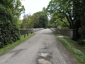 Rolle Canal - Beam Aqueduct, now viaduct, approach from north-west. Beyond to the right is Beam Mansion