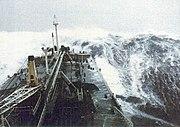 Force 12 at sea.