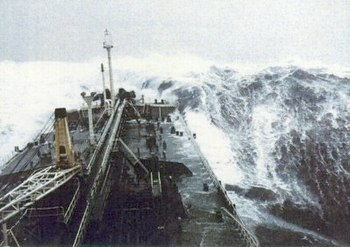 Force 12 at sea.