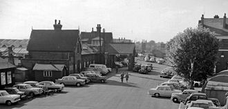 Bedford railway station - The main entrance on 4 June 1962