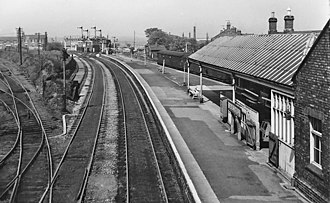 Bedlington - Bedlington once housed a public railway station, seen here in 1965. The line is still in use, but the station is no longer in service.