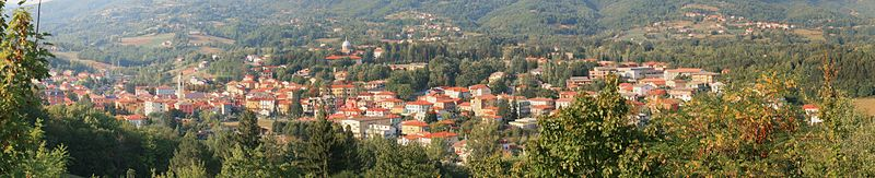 Panorama of Bedonia in Italy.