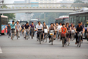 Utility cycling - Bike riders in Beijing