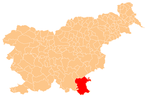 White Carniola - Location of White Carniola in Slovenia
