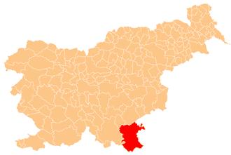 White Carniola - Location of White Carniola in Slovenia