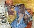Bemberg Fondation Toulouse - Femme à la coiffeuse - Edgar Degas - Pastel sur carton 1879 Inv.2038.jpg