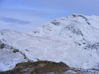 Ben Lomond - The summit of Ben Lomond seen from high on the Ptarmigan ridge in January 2010.