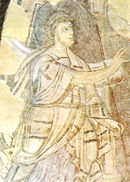 Annuncio a Zaccaria (particolare), affresco nell'abside