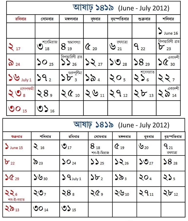 Bengali month Ashar