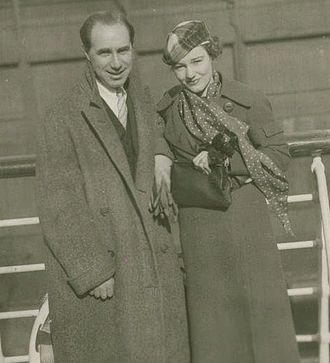 Benn Levy - Benn Levy and Constance Cummings in 1935