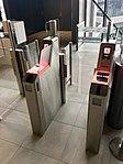 Bergen Airport, Flesland, Norway (Bergen lufthavn). Boarding card registration machines at flight gate. 2018-03-23 B.jpg