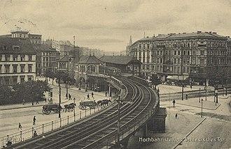Schlesisches Tor (Berlin U-Bahn) - U-Bahn station Schlesisches Tor, about 1911