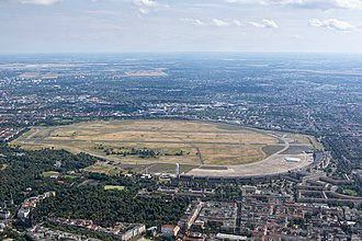 Berlin Tempelhof Airport - Aerial view of Tempelhof Airport taken 2016