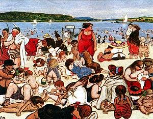 Schwabenhass - Beach life in Berlin (1901) as depicted by Heinrich Zille
