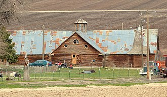 National Register of Historic Places listings in Owyhee County, Idaho - Image: Bernard's Ferry barn Murphy Idaho