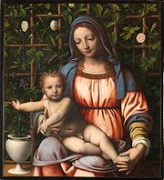 Bernardino Luini, La Madonna del roseto, pinacothèque de Brera, Milan