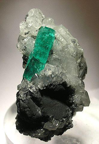 Muzo - Image: Beryl Calcite 22511