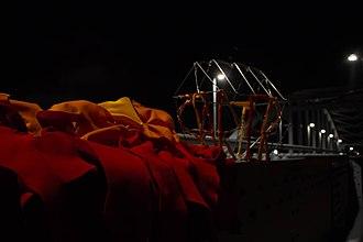 John Frost Bridge - The Between-Fire-Starter art installation