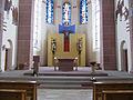 Bexbach Katholische Pfarrkirche St. Martin Innen Altarraum.JPG
