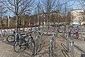 Bicycle parking at Kerava railway station, Kerava, Finland, 2021 May.jpg
