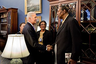 Earl Lloyd - Lloyd meets Vice-President Joe Biden at the White House.
