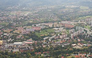Kamienica, Bielsko-Biała - Aerial view of Kamienica