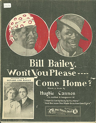 Won't You Come Home Bill Bailey - 1902 sheet music cover