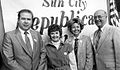 Billy Davis, Nancy Wessel and Governor Jan Brewer at Sun City 2.jpg