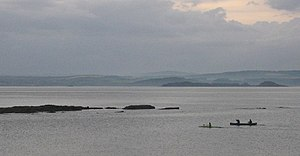 Birnie Rocks. The Forth from the promenade. A ...