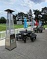 Bishop's Stortford Cricket Club pavilion veranda, Hertfordshire.jpg