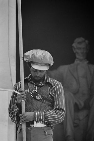 Black Panther Party - Black Panther convention, Lincoln Memorial, June 19, 1970.