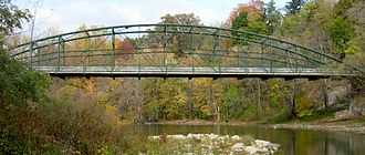 Truss bridge - A bowstring truss bridge, in London, Ontario, Canada