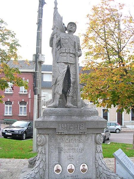 Denkmal für die Opfer des 1. Weltkriegs in Blegny bei Lüttich