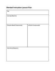 outline of a lesson plan template - file blended instruction lesson wikiversity