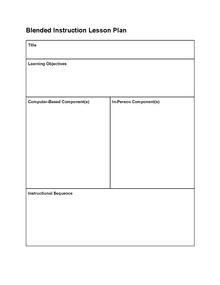Instructional DesignBlended Learning Lesson PlansDesigning A - Template lesson plan