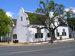 Stellenbosch - Typical Cape Dutch style house in Stellenbosch