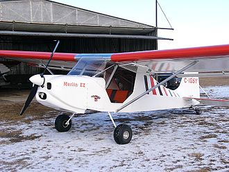 Ultralight aircraft (Canada) - Blue Yonder Merlin EZ Canadian-designed and built advanced ultralight airplane