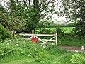 Bluestone Railway Station - old crossing gate - geograph.org.uk - 1319189.jpg