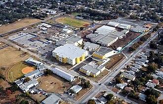 Boca Ciega High School - BCHS campus in 2011, looking southeast