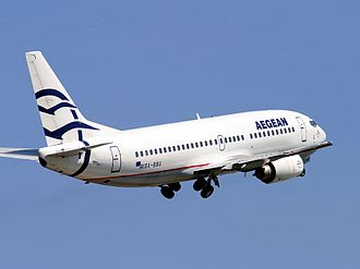Aegean Airlines - Aegean Airlines used Boeing 737-300s between 2001-2010