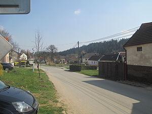 Bohuslavice (Jihlava District) - Image: Bohuslavice náves