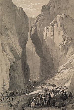 Balochistan, Pakistan - A historical sketch of Bolan Pass, Balochistan, Pakistan