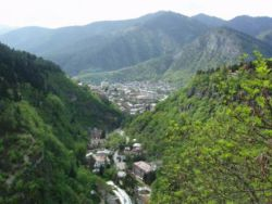 Overlooking Borjomi amid the Lesser Caucasus.