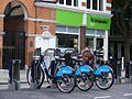 Boris Barclays bikes, Store Street Co-operative store, London WC1 - Flickr - sludgegulper.jpg