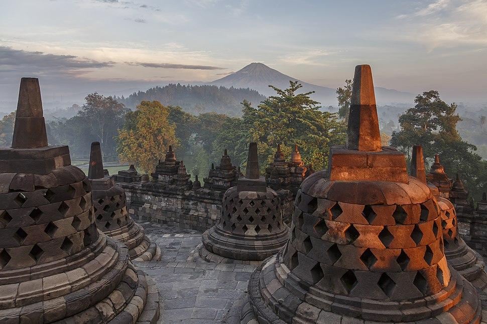 Borobudur-Temple-Park Indonesia Stupas-of-Borobudu-13