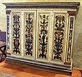 Bottega senese, armario con ante dipinte da bartolomeo di david, 1530 ca. (restauri del XIX sec) 02.JPG