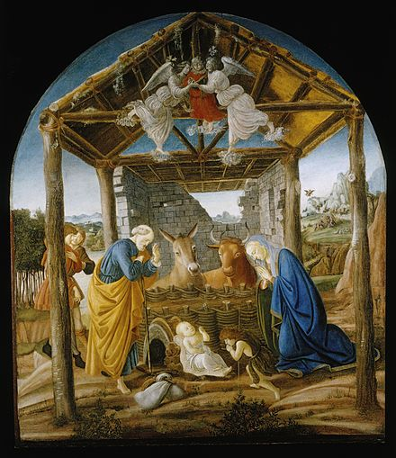 Nativity of Jesus, c. 1473-1475, by Botticelli Botticelli Nativity.jpg