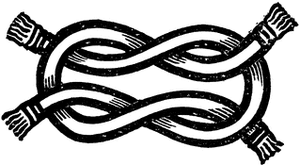 Bourchier knot - Image: Bourchier Knot ST Aveling Heraldry Ancient&Modern
