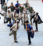 Boy Scouts of America PT and talk with members of the sea services during Fleet Week New York 2015 150523-N-CD297-075.jpg