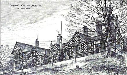 Sketch of the south end of Bramall Hall Bramall 2.jpg